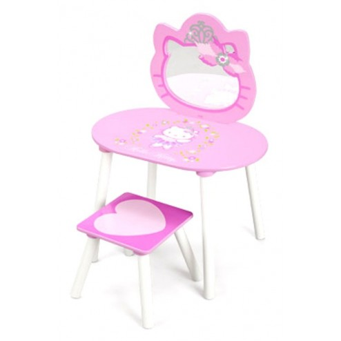 Masuta frumusete cu scaunel Hello Kitty