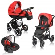 Carucior Crooner 3 in 1 - Vessanti - Red