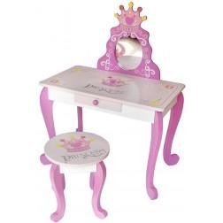 Masuta de frumusete cu scaunel pentru fetite Princess Style