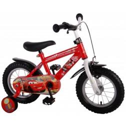 Bicicleta pentru baieti 10 inch, cu maner si roti ajutatoare, Cars