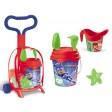 Troller cu ghiozdanel Pj Masks pentru copii cu jucarii plaja si galetusa - Mondo