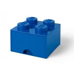 Cutie depozitare LEGO 2x2 cu sertar, albastru (40051731)