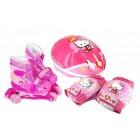 Set role cu accesorii protectie incluse Saica Hello Kitty marimi reglabile 31-34