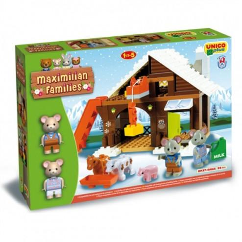 Set constructie Maximilian Families Refugiul Montan 93 piese - Unico