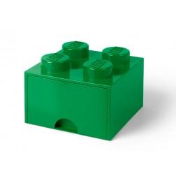 Cutie depozitare LEGO 2x2 cu sertar, verde (40051734)
