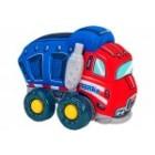 Jucarie moale pentru copii tip Camion Globo Tonka cu sunete cu roti si accesorii din plastic Albastra