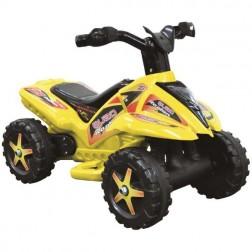 QUAD galben cu pedala acceleratie pentru copii