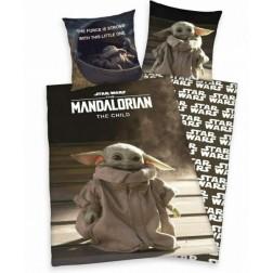 Lenjerie de pat cu 2 fete Star Wars Mandalorian