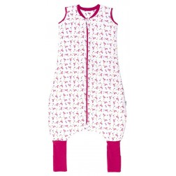 Sac de dormit Flamingo 2-3 ani, cu picioruse si talpa antiderapanta