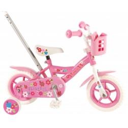 Bicicleta pentru fete 10 inch, cu roti ajutatoare si cosulet, Volare Yipeeh