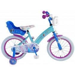 Bicicleta fete Frozen 16 inch cu roti ajutatoare - Volare