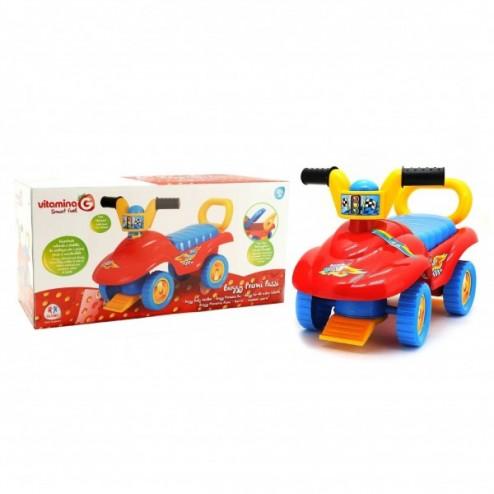 Masinuta pentru copii de impins Globo Vitamina G interactiva Buggy multicolora cu portbagaj