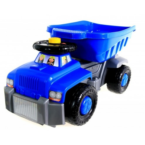 Camion basculant Carrier albastru Super Plastic Toys