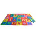 Covor puzzle din spuma litere si numere 36 piese - Knorrtoys