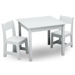 Set masuta si 2 scaunele Premium White