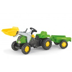 Tractor Cu Pedale Si Remorca verde copii - Rolly Toys
