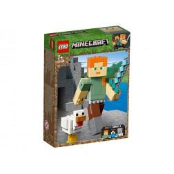 Minecraft Alex BigFig cu gaina (21149)